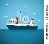 vector concept of river ocean...   Shutterstock .eps vector #251015038