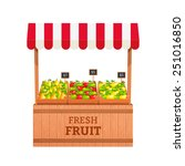 stand for selling fruit. apples ... | Shutterstock .eps vector #251016850
