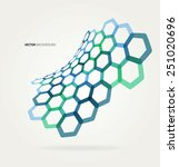 abstract wave vector hexagons... | Shutterstock .eps vector #251020696