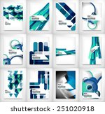 geometric abstract business... | Shutterstock .eps vector #251020918