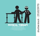 black symbol physical therapy... | Shutterstock .eps vector #251025970