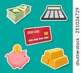 vector set of finance icons.   Shutterstock .eps vector #251026729