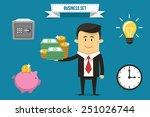 vector businessman with set of... | Shutterstock .eps vector #251026744