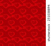 valentines day red seamless... | Shutterstock .eps vector #251038894
