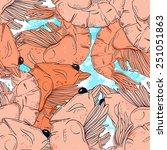 tender shrimp   vector picture  ...   Shutterstock .eps vector #251051863