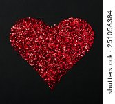 Heart Piled With Sequins