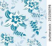plants seamless pattern... | Shutterstock .eps vector #251058598