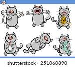 cartoon vector illustration of... | Shutterstock .eps vector #251060890