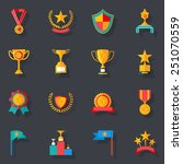 flat design awards symbols and... | Shutterstock .eps vector #251070559