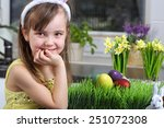 preparing for easter   young... | Shutterstock . vector #251072308