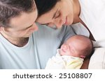 close up of happy parents... | Shutterstock . vector #25108807