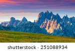 colorful summer panorama of the ... | Shutterstock . vector #251088934