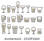 drink glass icon set | Shutterstock .eps vector #251091664
