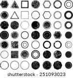 huge vector vintage stamps... | Shutterstock .eps vector #251093023