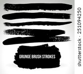 brush stroke and texture.... | Shutterstock .eps vector #251094250