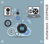 cloud communication  vector | Shutterstock .eps vector #251094628