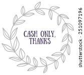 cash only vector | Shutterstock .eps vector #251097196