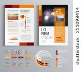 red brochure template design...   Shutterstock .eps vector #251098414