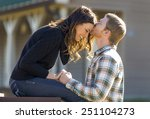 a young couple enjoy each other'... | Shutterstock . vector #251104273