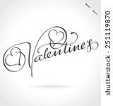 valentine's original custom... | Shutterstock .eps vector #251119870