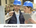 supplier with engineer checking ... | Shutterstock . vector #251123953