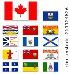 canadian provinces and... | Shutterstock .eps vector #251124826