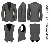 formal business suits jacket... | Shutterstock .eps vector #251124856
