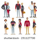 people characters | Shutterstock .eps vector #251127730