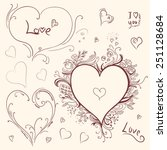 hearts set   vector set of...   Shutterstock .eps vector #251128684