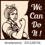 we can do it  vintage poster ... | Shutterstock .eps vector #251128726