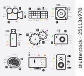 technology infographic | Shutterstock .eps vector #251136970