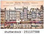 Old Harbor Of Honfleur France ...