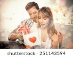 loving young couple with... | Shutterstock . vector #251143594