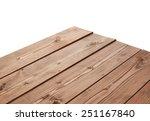 dark brown paint coated wooden... | Shutterstock . vector #251167840