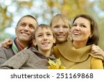 portrait of family relaxing in... | Shutterstock . vector #251169868