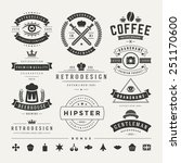 retro vintage insignias or... | Shutterstock .eps vector #251170600