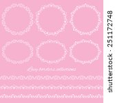 set collections of vintage lacy ... | Shutterstock .eps vector #251172748