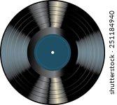 blank vinyl record | Shutterstock .eps vector #251184940