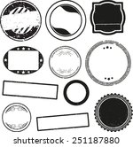 big set of templates for rubber ... | Shutterstock .eps vector #251187880