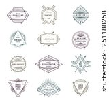 vector illustration   set of... | Shutterstock .eps vector #251188258