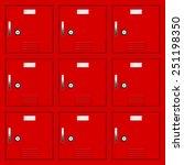 red deposit lockers   vector... | Shutterstock .eps vector #251198350
