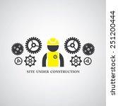 site under construct vector... | Shutterstock .eps vector #251200444