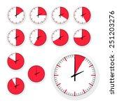 vector set of clock timers.... | Shutterstock .eps vector #251203276