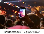 people holding their smart... | Shutterstock . vector #251204560