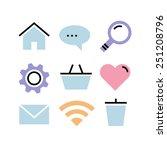 flat design icons ...