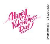 happy valentine day calligraphy ...   Shutterstock .eps vector #251210530