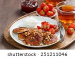 pancakes with fresh... | Shutterstock . vector #251211046