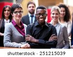 young multiethnic business... | Shutterstock . vector #251215039