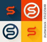 s letter line logo set  design... | Shutterstock .eps vector #251215648