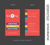 vector modern creative and... | Shutterstock .eps vector #251216020